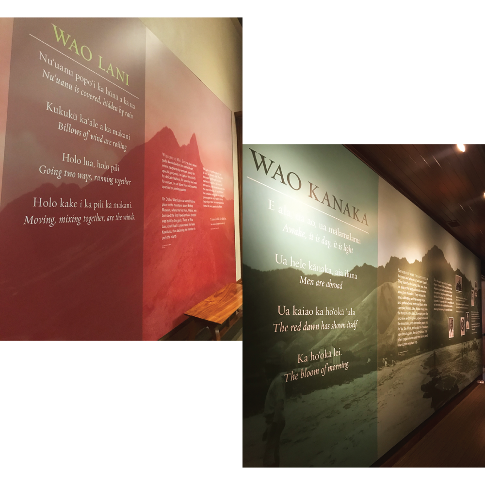 Wao Kanaka and Wao Lani at the Bishop Museum