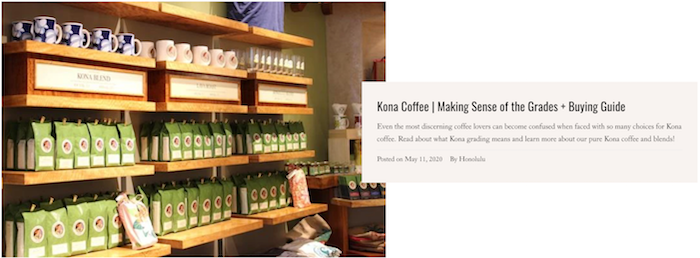 Kona Coffee Grading and Buying Guide