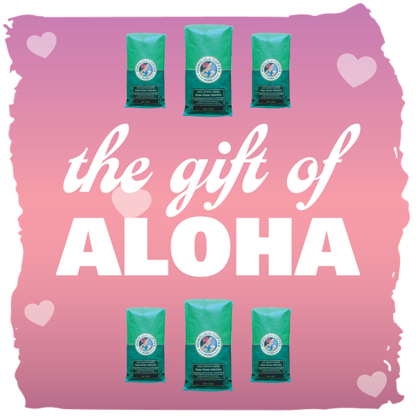 Gift of Aloha with 12oz bags of Kona Coffee