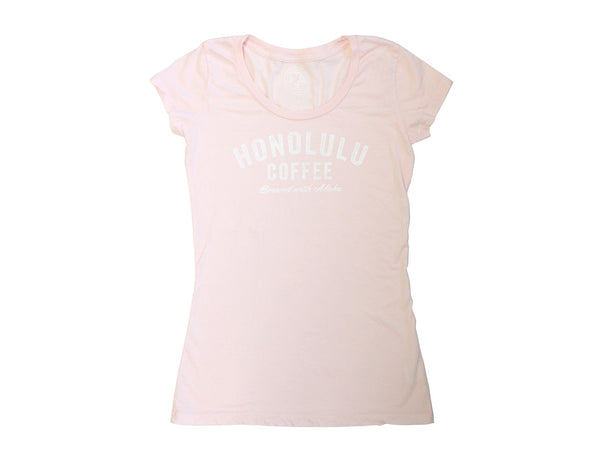 Womens Honolulu Coffee T-Shirt Pink