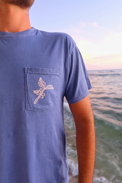 Blue Pocket Tee