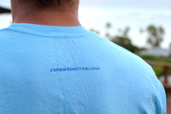 'Brewed with Aloha' Men's T-Shirt Sky Blue