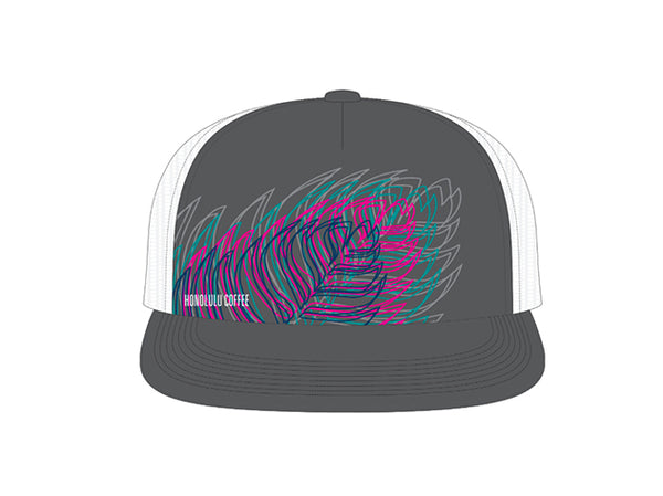 Trucker Cap Leaf Design