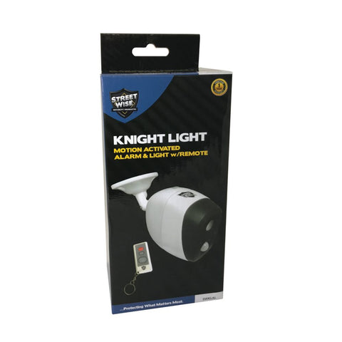 KNIGHT LIGHT Motion Activated Alarm & Light w/Remote - Streetwise