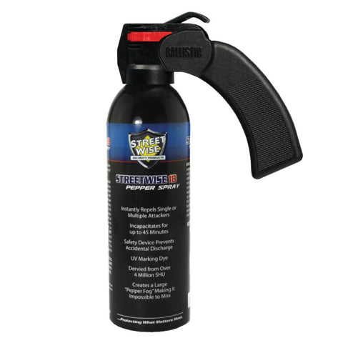 Pepper Spray:Streetwise 18 Pepper Spray 16 oz Pistol Grip