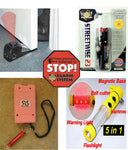 6 item Protection Kit Self Defense Safety Security Stun Gun Pepper Spray Alarm+