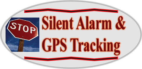 Car Alarm Auto Warning Sticker 2 pack - Silent Alarm, GPS Tracking Anti Theft