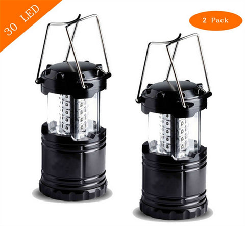 Two Pack - 30 LED Battery Emergency Power Outage, Disaster Light Camping Lantern