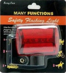 Bicycle+Walking+Jogging 5 Red LED Tail Light+Clamp Cycling Bike Safety 7 Modes