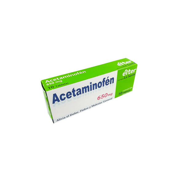 ACETAMINOFEN ELTER 650 MG X 10 TABLETAS