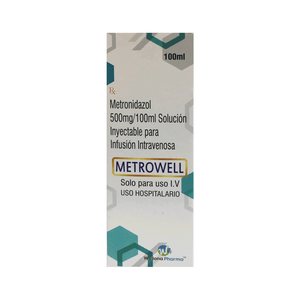 METRONIDAZOL 500 MG/100 ML AMPOLLA