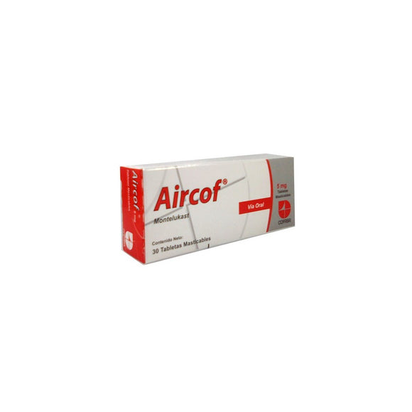 AIRCOF 5 MG X 30 TABLETAS MASTICABLES