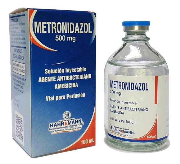 Metronidazol 500 mg / 100 ml solución inyectable