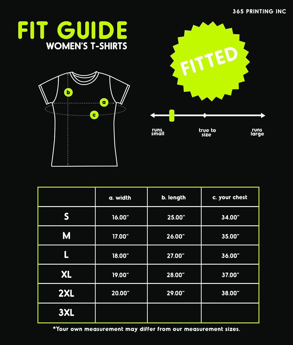 T-shirt fit guide