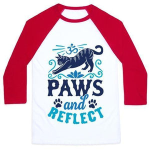 Paws and reflect shirt red