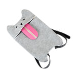 Load image into Gallery viewer, Grey Felt Cat Bag by TrueZoo.