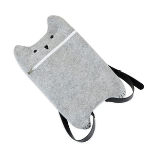 Grey Felt Cat Bag by TrueZoo.
