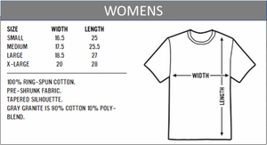 Women's t-shirt sizes