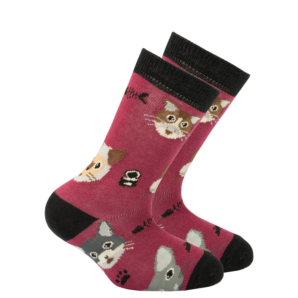 kids pink cat socks