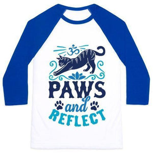 Paws and reflect shirt blue