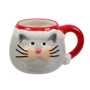 Christmas Cat Face Mug