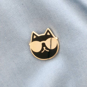Cool cat pin - 2 options.