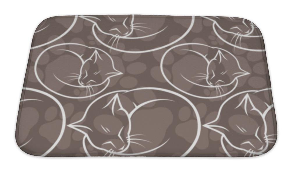 Bath Mat, Pattern With Cats
