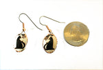 Load image into Gallery viewer, Black cat earrings