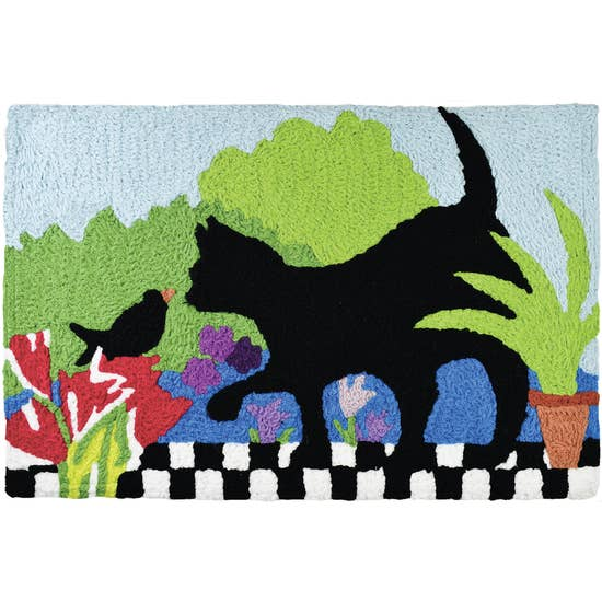 Garden Buddies cat accent rug.