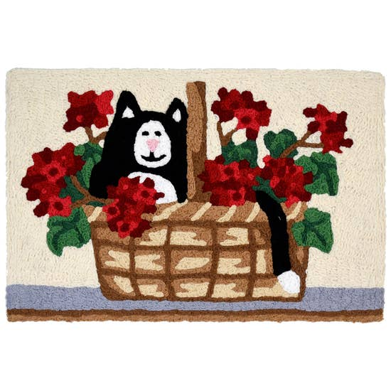 Kitty in Basket Accent Rug.