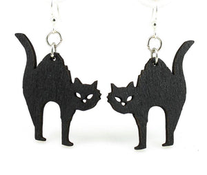 Halloween Cat Earrings.