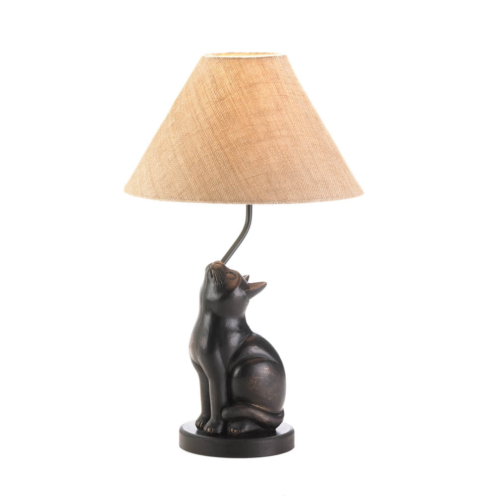 Curious cat lamp