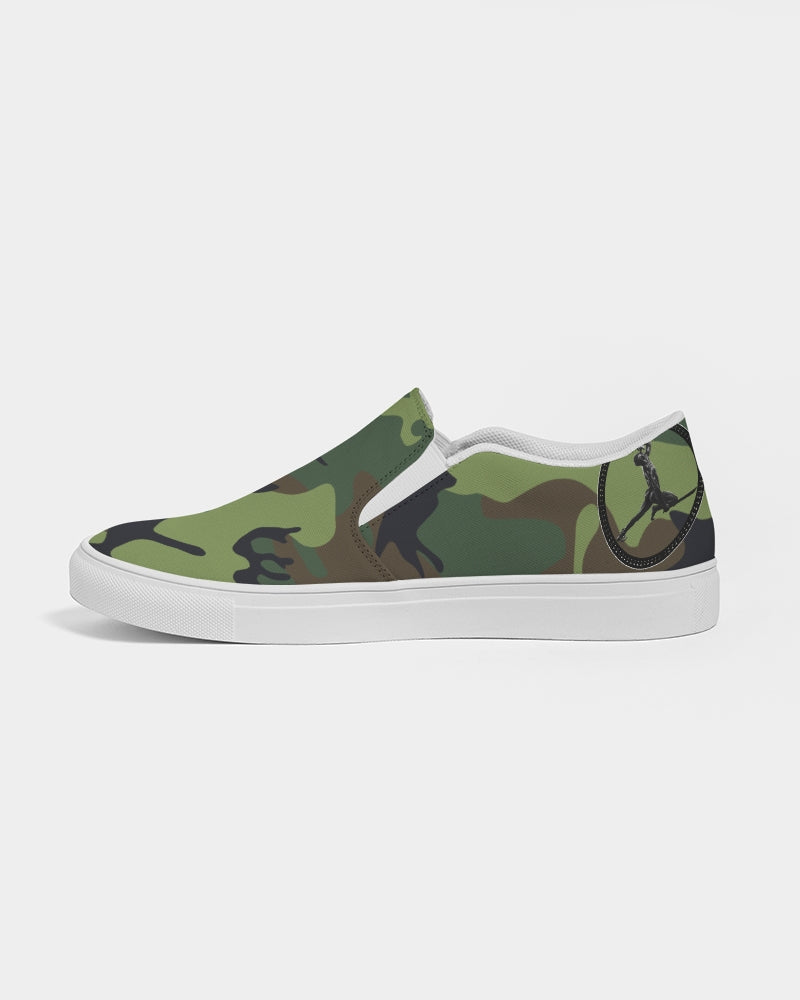 LIBERATION  green fatigue Men's Slip-On Canvas Shoe
