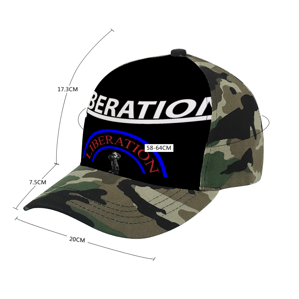 LIBERATION Adult Camo Baseball Hat ,Classic Athletic Baseball Fitted Cap Made Adjustable Dad Hat
