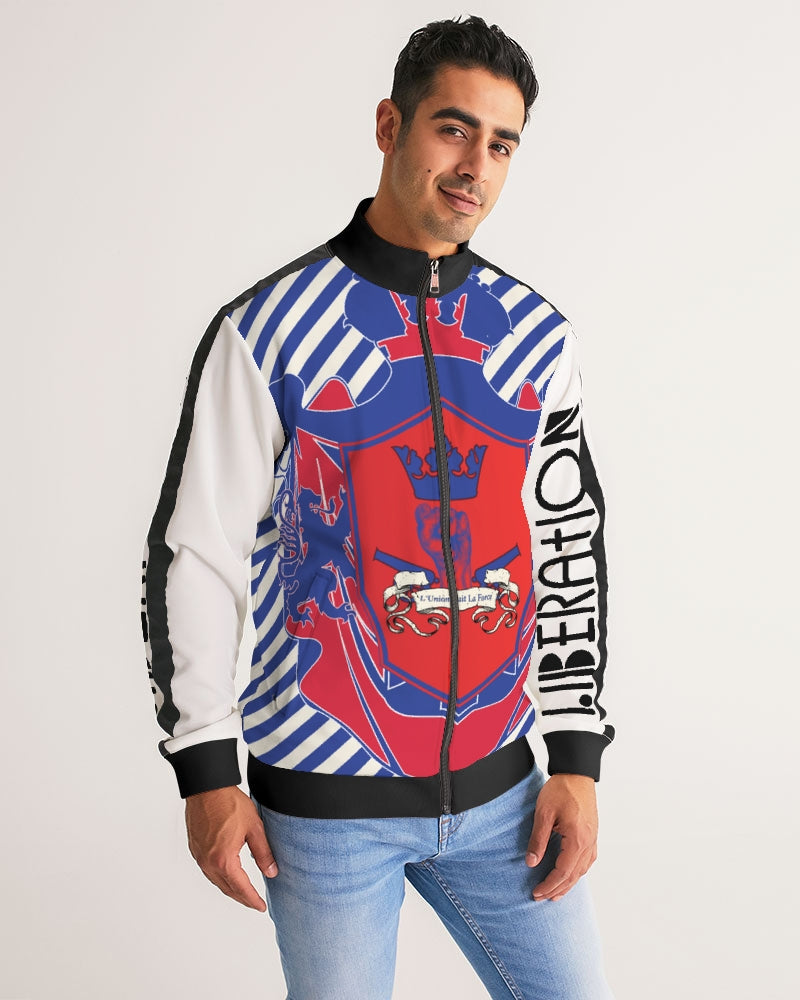 LIBERATION coat of arm Men's Stripe-Sleeve Track Jacket