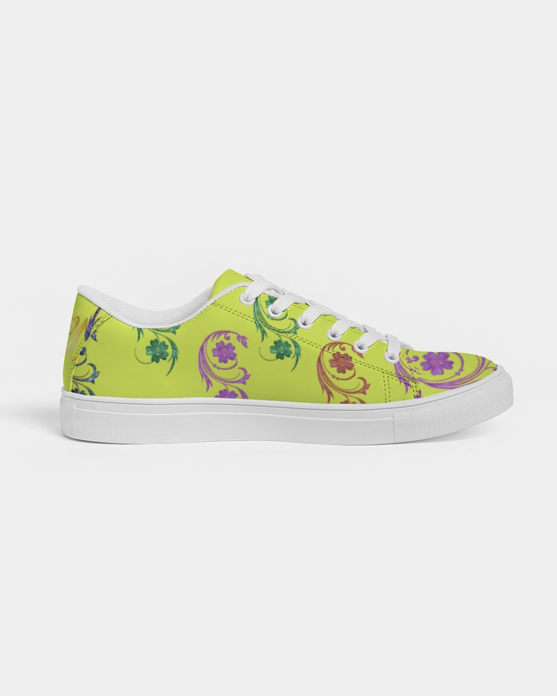 VOILA yellow lime Women's Faux-Leather Sneaker