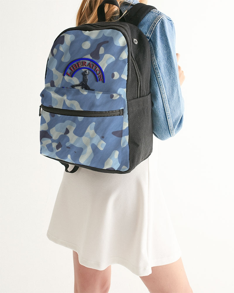 powder blue fatigue Small Canvas Backpack