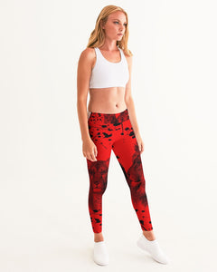 VOILA PAINT SPLASH LION LIONESS Women's Yoga Pants