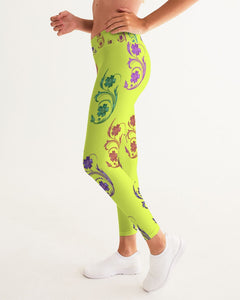 VOILA YELLOW lime tights Women's Yoga Pants