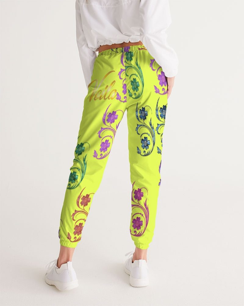 VOILA yellow lime Women's Track Pants