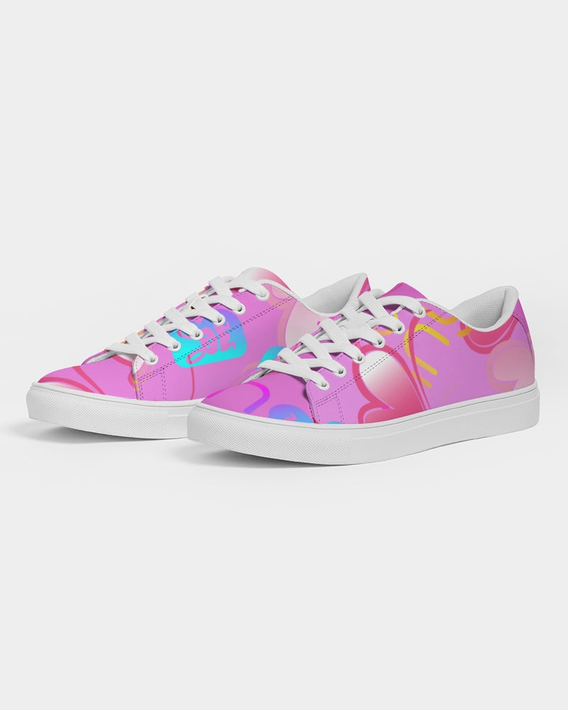 ZOE BUNNY Bubble gum bunny heart Women's Faux-Leather Sneaker