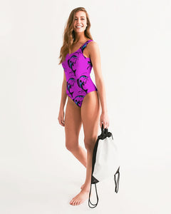 ZOE BUNNY don't geT hook Women's One-Piece Swimsuit