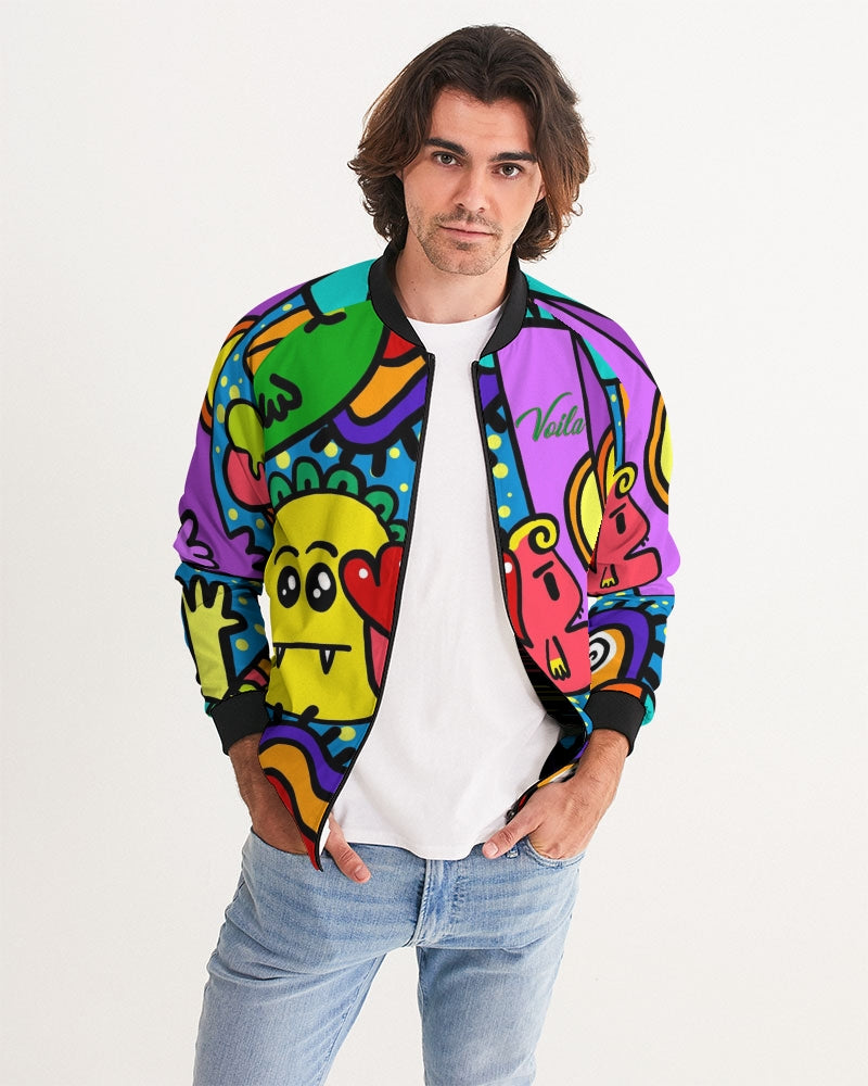 VOILA LOVING MONSTERS Men's Bomber Jacket