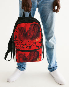 VOILA PAINT SPLASH LION LIONESS Small Canvas Backpack