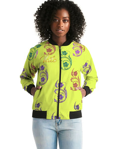 VOILA YELLOW lime tights Women's Bomber Jacket