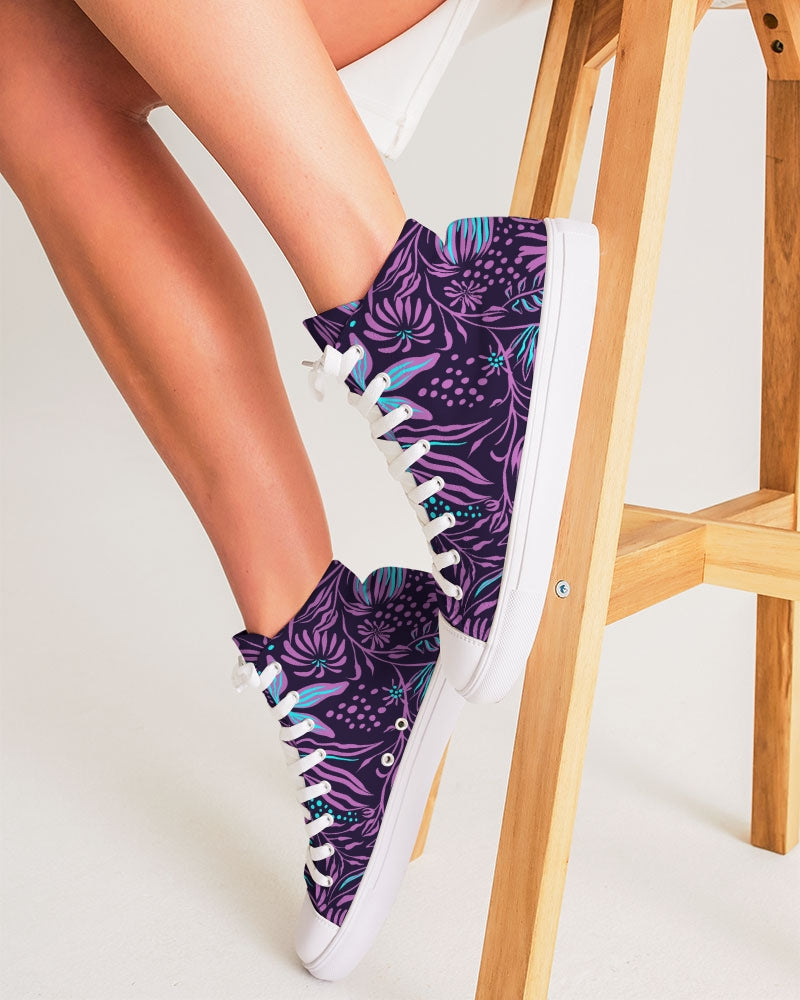 EMPRESS Jazzy stamping purple Women's Hightop Canvas Shoe