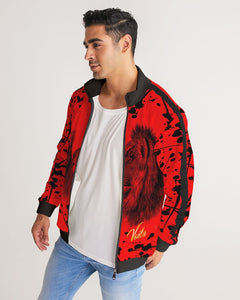 VOILA PAINT SPLASH LION LIONESS Men's Stripe-Sleeve Track Jacket