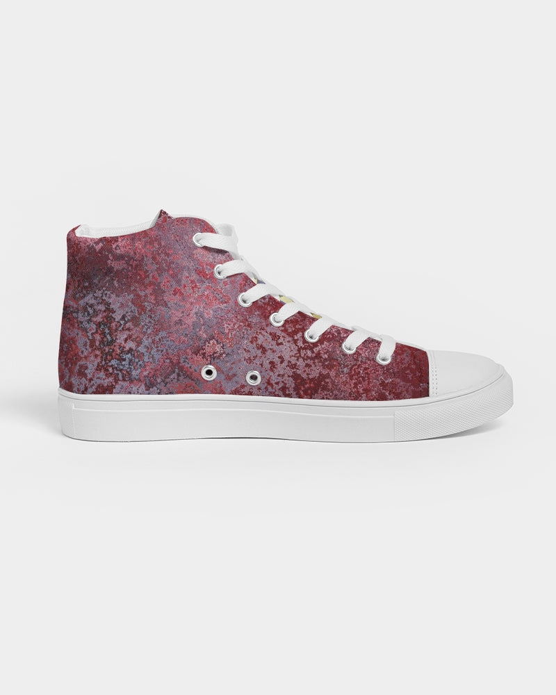 EMPRESS royal red Women's Hightop Canvas Shoe