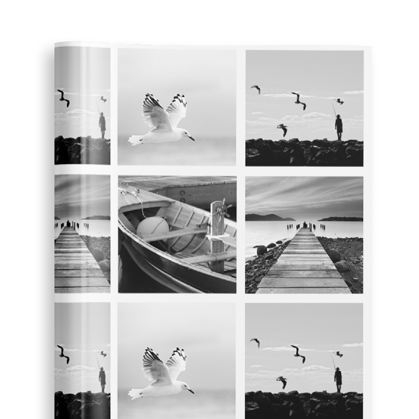 Personalised Wrapping Paper - Photo B&W