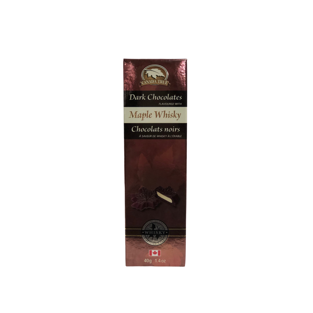 Maple Whisky Dark Chocolates - 40g